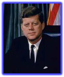 """POTUS 35 - John Fitzgerald Kennedy: """"He thought he was a god""""."""